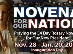 """Novena for Our Nation"" – Praying Grace into Our New President!"