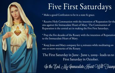 The Five First Saturdays Devotion: June 1 – October 5