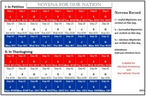 photo about 54 Day Rosary Novena Printable titled Novena for Our Place Our ChurchNovena for Our Country
