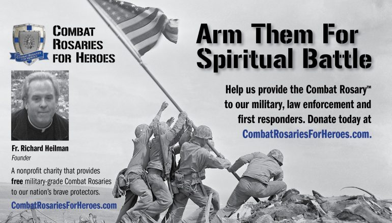Charity to Provide Free Combat Rosaries to Military, Law Enforcement & First Responders