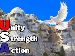 Saving the USA = Unity, Strength, Action