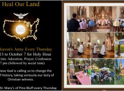 Holy Hour to Pray for the USA & Social at Gracie's Cafe!